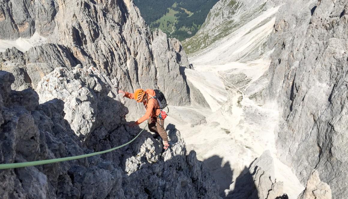 Klettern in den Dolomiten – Daumen hoch